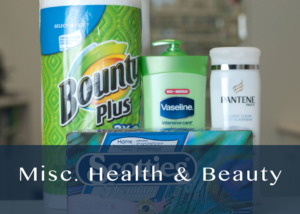Misc. Health and Beauty products